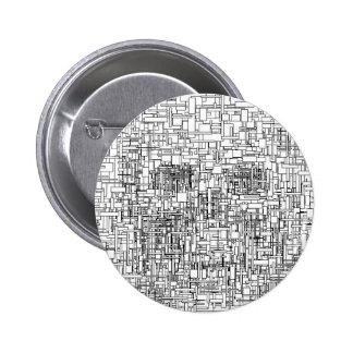Digital Existence / Skull Pinback Buttons