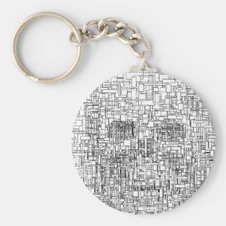 Digital Existence / Skull Keychain