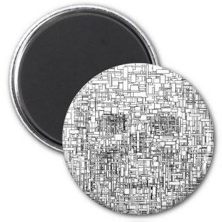 Digital Existence / Skull Refrigerator Magnet