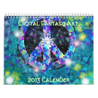 Digital Fantasy, 2013 Art Calender Wall Calendar