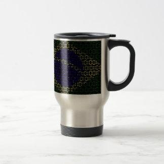digital Flag (Brazil) Travel Mug