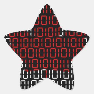 digital Flag (Canada) Star Sticker