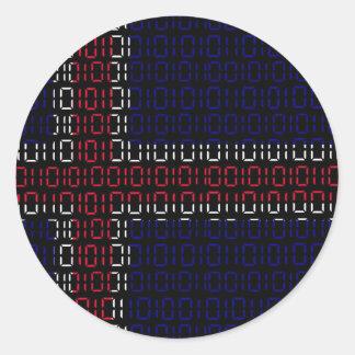 digital Flag iceland Round Sticker