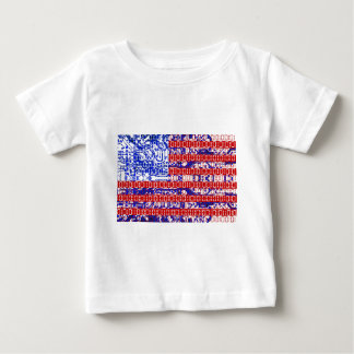 digital Flag (USA) & circuit board. T Shirts
