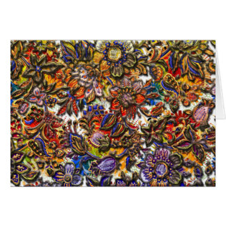 Digital Floral Pattern Art Card