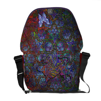 Digital Geometric Art Bag & Leopard & Butterfly Messenger Bags