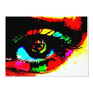 "Digital Graffiti Eye 5"" X 7"" Invitation Card"