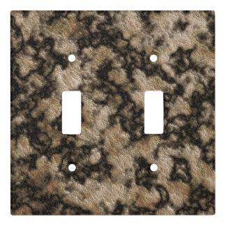 Digital Granite Texture Champagne Dark Brown Light Switch Cover