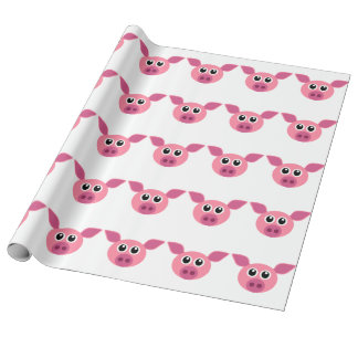 DIGITAL GRAPHIC PIG PATTERN WRAPPING PAPER