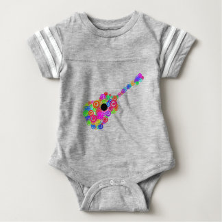 Digital Guitar instruments circle design Baby Bodysuit