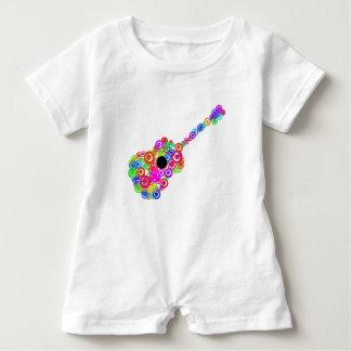 Digital Guitar instruments circle design Baby Romper