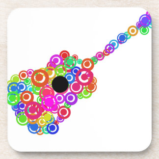 Digital Guitar instruments circle design Coaster
