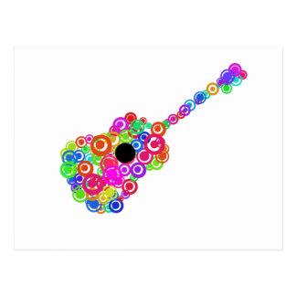 Digital Guitar instruments circle design Postcard