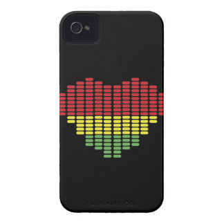 Digital heart iPhone 4 case