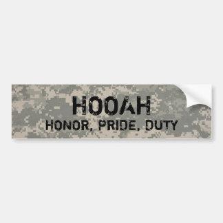 digital, HOOAH, HONOR, PRIDE, DUTY-bumper Bumper Sticker