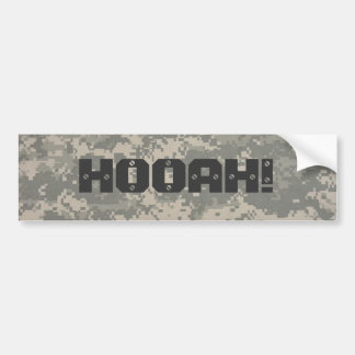 digital, HOOAH! hummer style Bumper Sticker