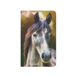 Digital horse portrait painting name journals