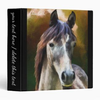 Digital horse portrait painting name vinyl binders