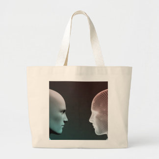 Digital Identity and Transfer of Knowledge Large Tote Bag
