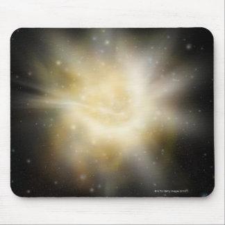 Digital Illustration of a Solar System Mouse Pad