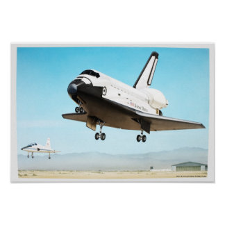 Digital illustration of Space Shuttle Poster