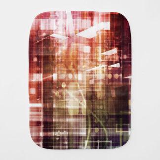 Digital Imagery with Data Network Transfer Art Burp Cloth