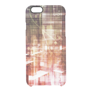 Digital Imagery with Data Network Transfer Art Clear iPhone 6/6S Case