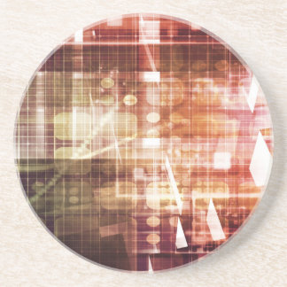 Digital Imagery with Data Network Transfer Art Coaster