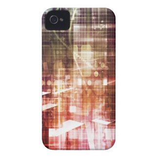 Digital Imagery with Data Network Transfer Art iPhone 4 Case-Mate Case
