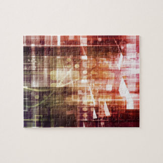 Digital Imagery with Data Network Transfer Art Jigsaw Puzzle