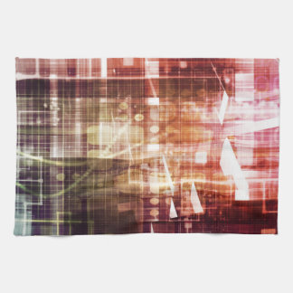 Digital Imagery with Data Network Transfer Art Kitchen Towel