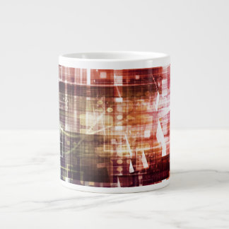 Digital Imagery with Data Network Transfer Art Large Coffee Mug