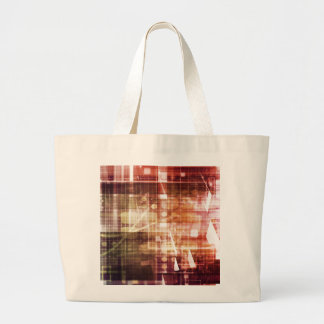 Digital Imagery with Data Network Transfer Art Large Tote Bag