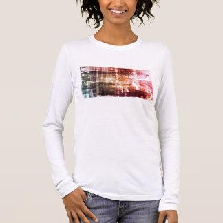 Digital Imagery with Data Network Transfer Art Long Sleeve T-Shirt