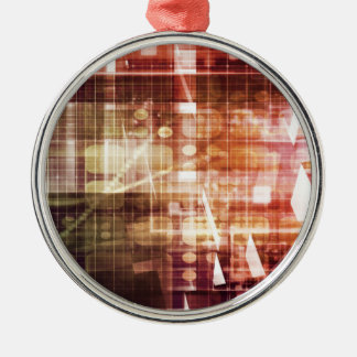 Digital Imagery with Data Network Transfer Art Metal Ornament