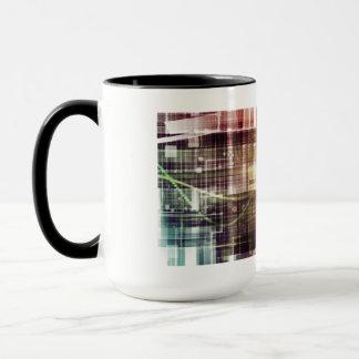 Digital Imagery with Data Network Transfer Art Mug