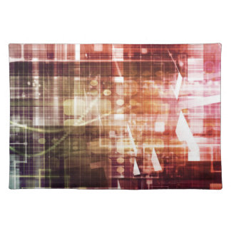 Digital Imagery with Data Network Transfer Art Placemat