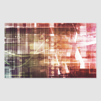 Digital Imagery with Data Network Transfer Art Sticker