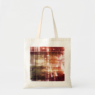 Digital Imagery with Data Network Transfer Art Tote Bag