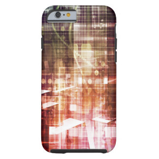 Digital Imagery with Data Network Transfer Art Tough iPhone 6 Case