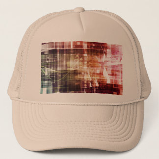 Digital Imagery with Data Network Transfer Art Trucker Hat