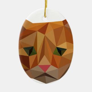 Digital Kitty Ceramic Ornament