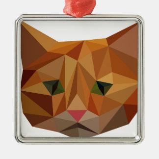 Digital Kitty Metal Ornament
