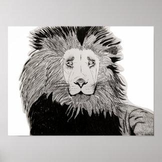 Digital Lion Poster