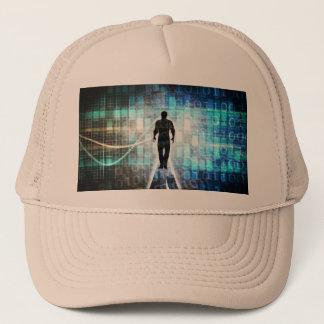 Digital Literacy as a Technology Concept Trucker Hat