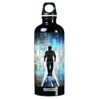Digital Literacy as a Technology Concept Water Bottle