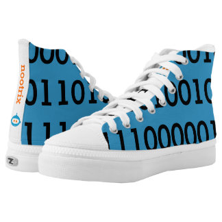 Digital Love High Top Shoes Black Binary