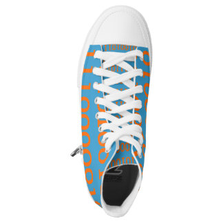 Digital Love High Top Shoes Orange Binary