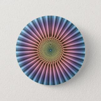 Digital Mandala Flower 2 Inch Round Button