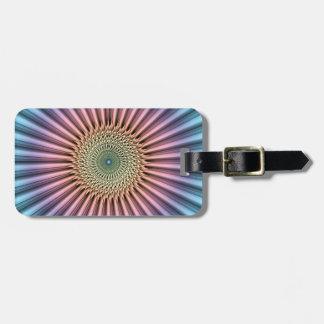 Digital Mandala Flower Luggage Tag